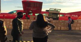 Chega a Rondônia primeira remessa dos 10 mil protetores faciais doados pela Taurus após pedido da deputada Mariana Carva