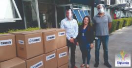 Prefeitura de Sapucaia do Sul recebe doação de máscaras Face Schild da Taurus