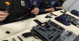 Agentes da Guarda Municipal fazem treinamento para uso de novo armamento