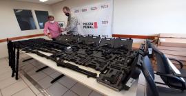 Policiais penais de Uberaba recebem armamentos e munições nesta segunda