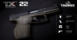 Taurus Brasil importa pistola TX22 da Taurus USA
