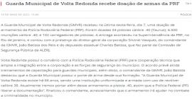 Guarda Municipal de Volta Redonda recebe doação de armas da PRF