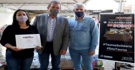 Esteio recebe doação de 14,4 toneladas de alimentos da Taurus