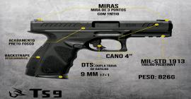 Taurus lança arma com dupla trava para uso policial e militar; ações sobem