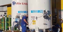 Com apoio da Stihl, Klabin, Gedore e Taurus, Upa da Zona Norte recebe novo tanque de oxigênio