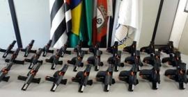 GCM de Taboão recebe novo armamento para ROMUCAM e ROMU